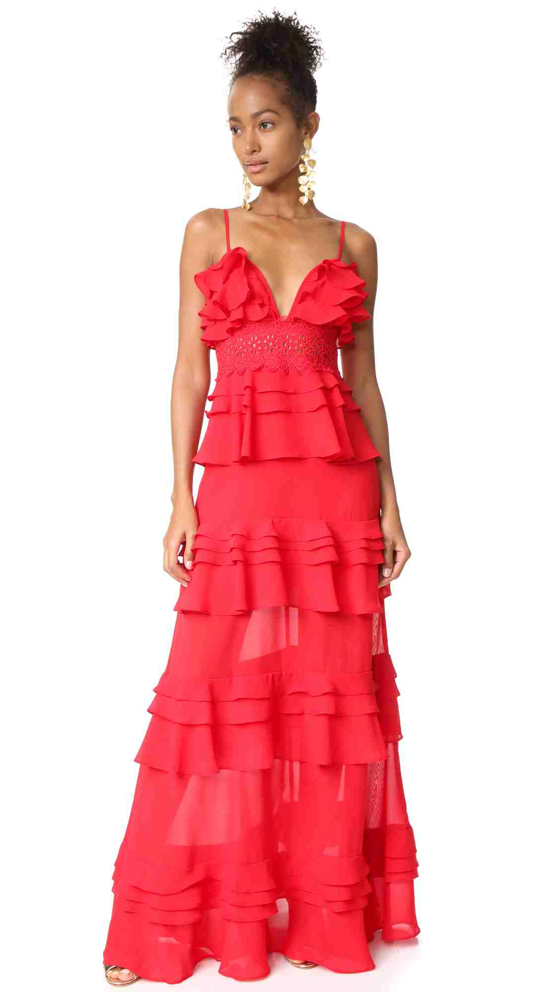 Glamorous Tiered Dress | Hermosaz