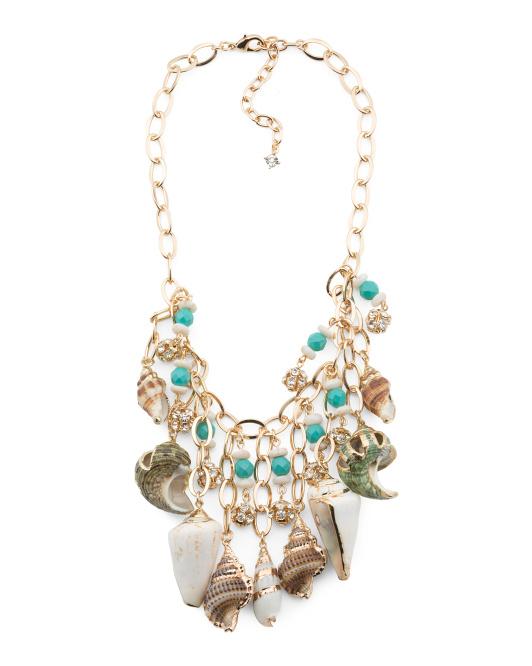 VINEYARD HAVEN Genuine Shell Statement Necklace | Hermosaz