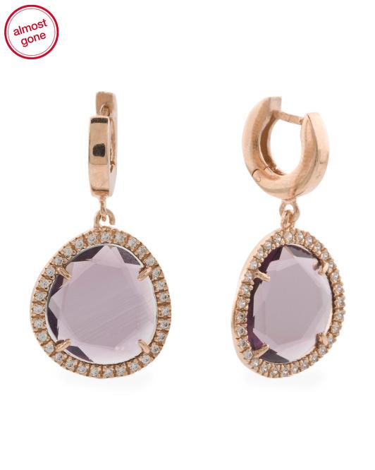 FERVOR Made In Thailand Sterling Silver Cubic Zirconia Drop Earrings | Hermosaz