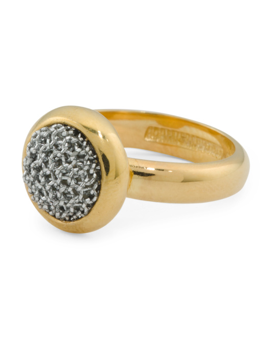 ADAMI & MARTUCCI Made In Bali Sterling Silver And Mesh Circle Stud Ring | Hermosaz
