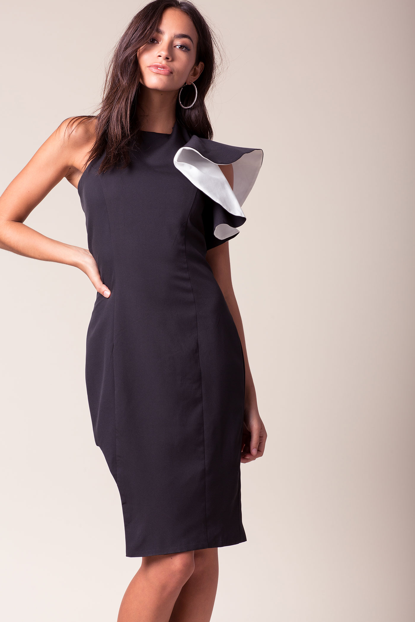 Vivian Asymmetrical Column Dress | Hermosaz