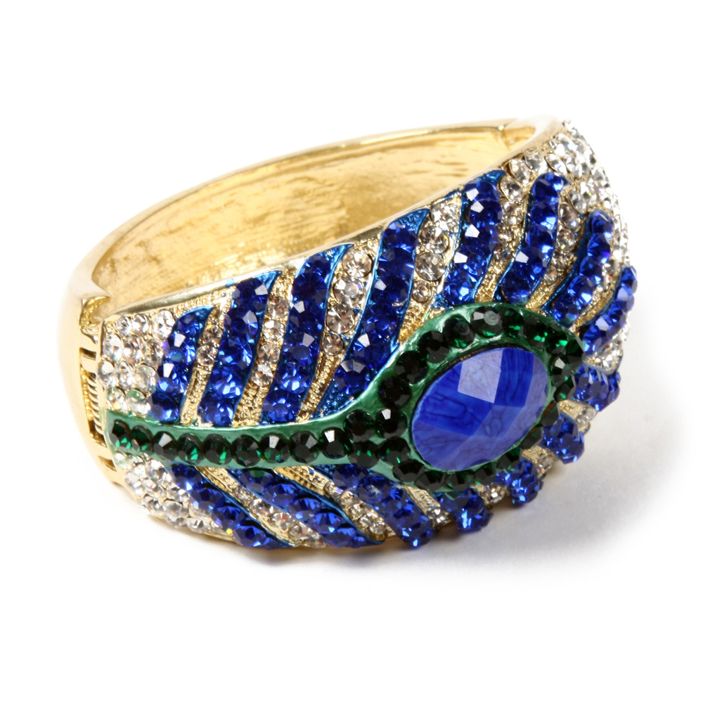 Peacock Feather Cuff | Hermosaz