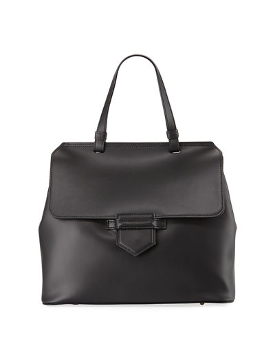 Neiman Marcus Saffiano Top-Handle Satchel Bag | Hermosaz