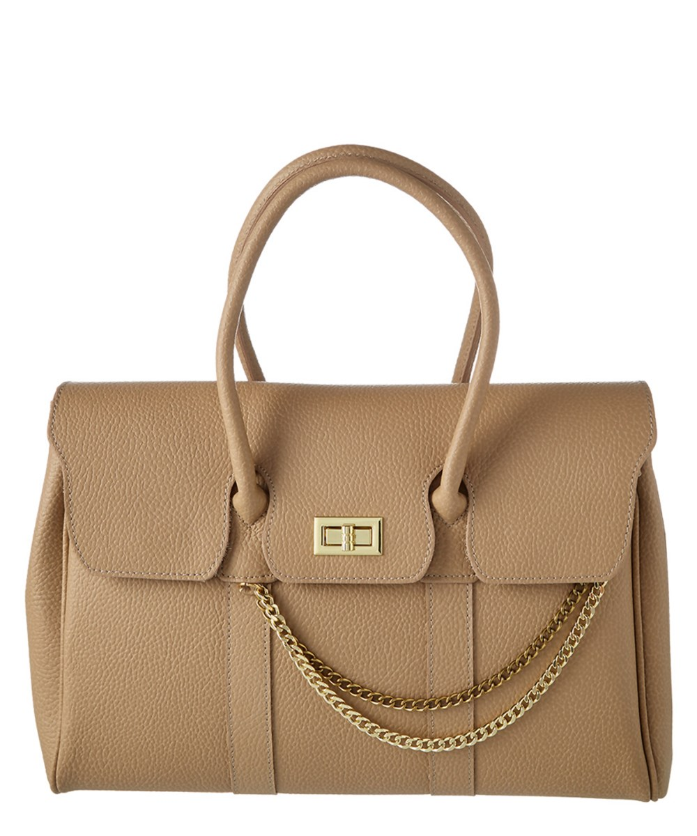 MARKESE Markese Leather Satchel With Chain | Hermosaz