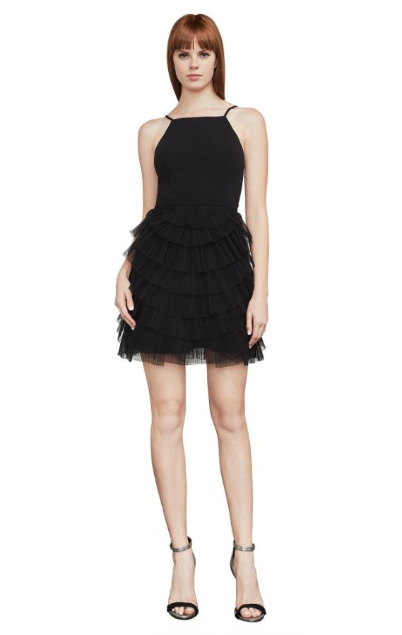 BCBG Casandra Pleated Dress | Hermosaz