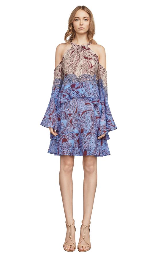 BCBG Mariah Ruffle Halter Dress | Hermosaz