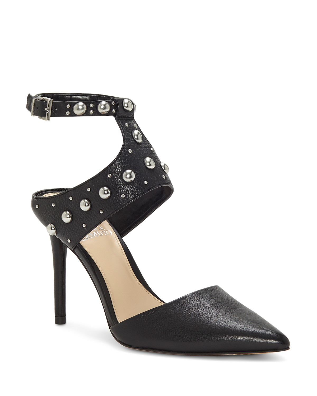 Vince Camuto Women's Ledana Studded Ankle Strap Pumps | Hermosaz