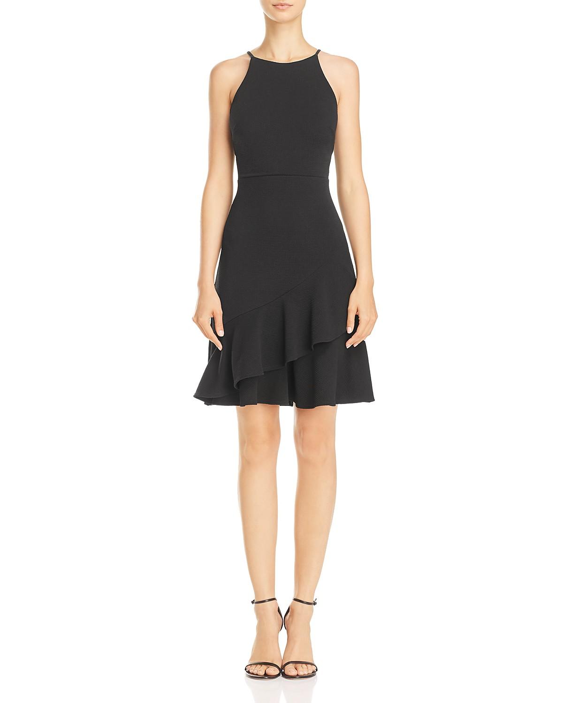 AQUA Textured Ruffle-Hem Dress | Hermosaz