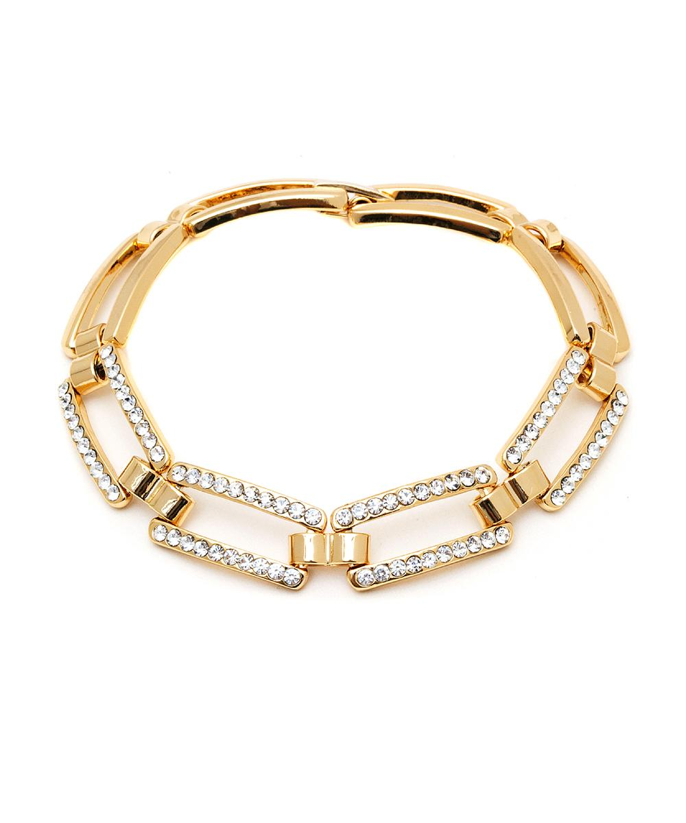Peermont Gold And Swarovski Elements Link Bracelet | Hermosaz