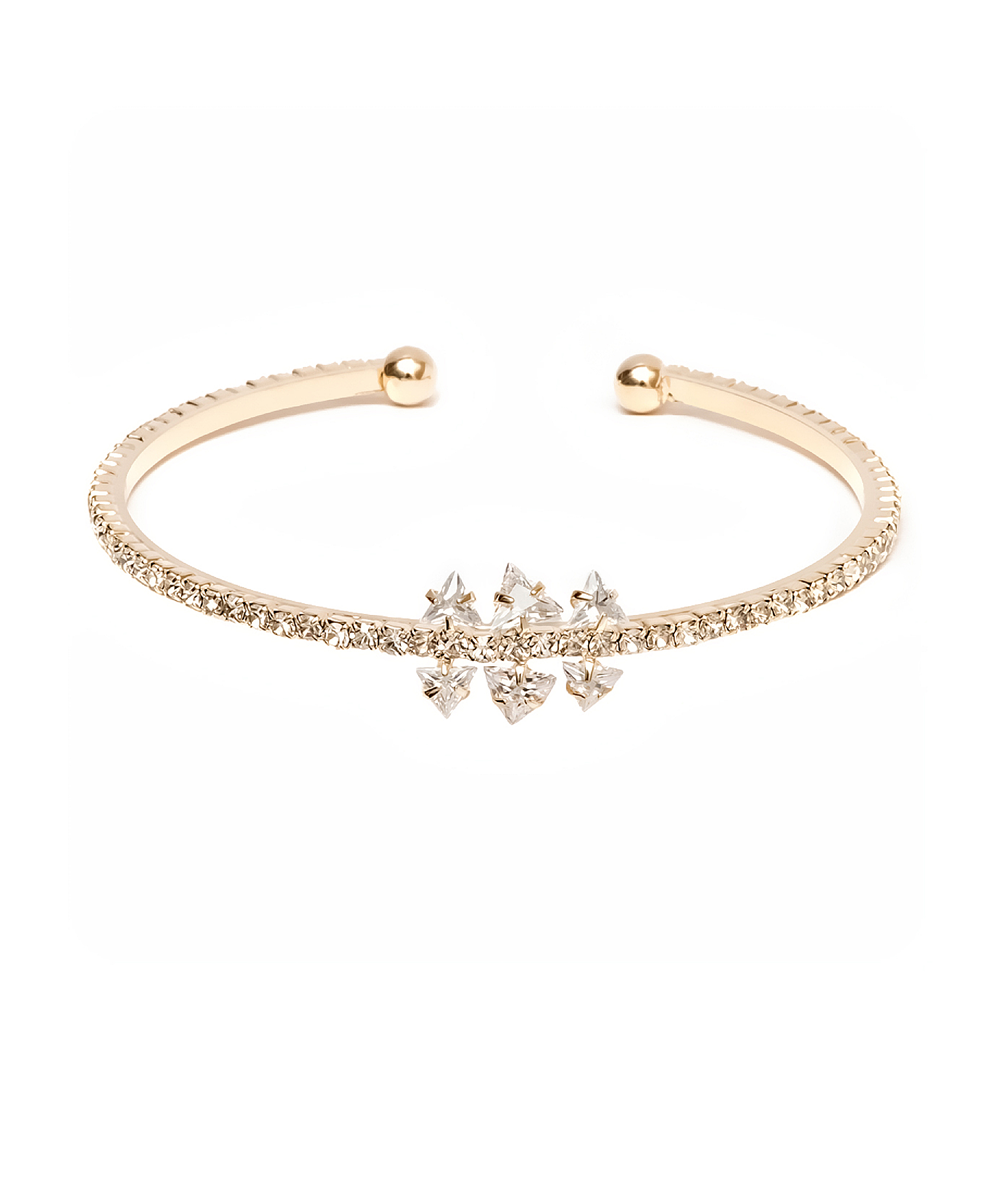 Peermont Gold And White Swarovski Elements Cuff | Hermosaz