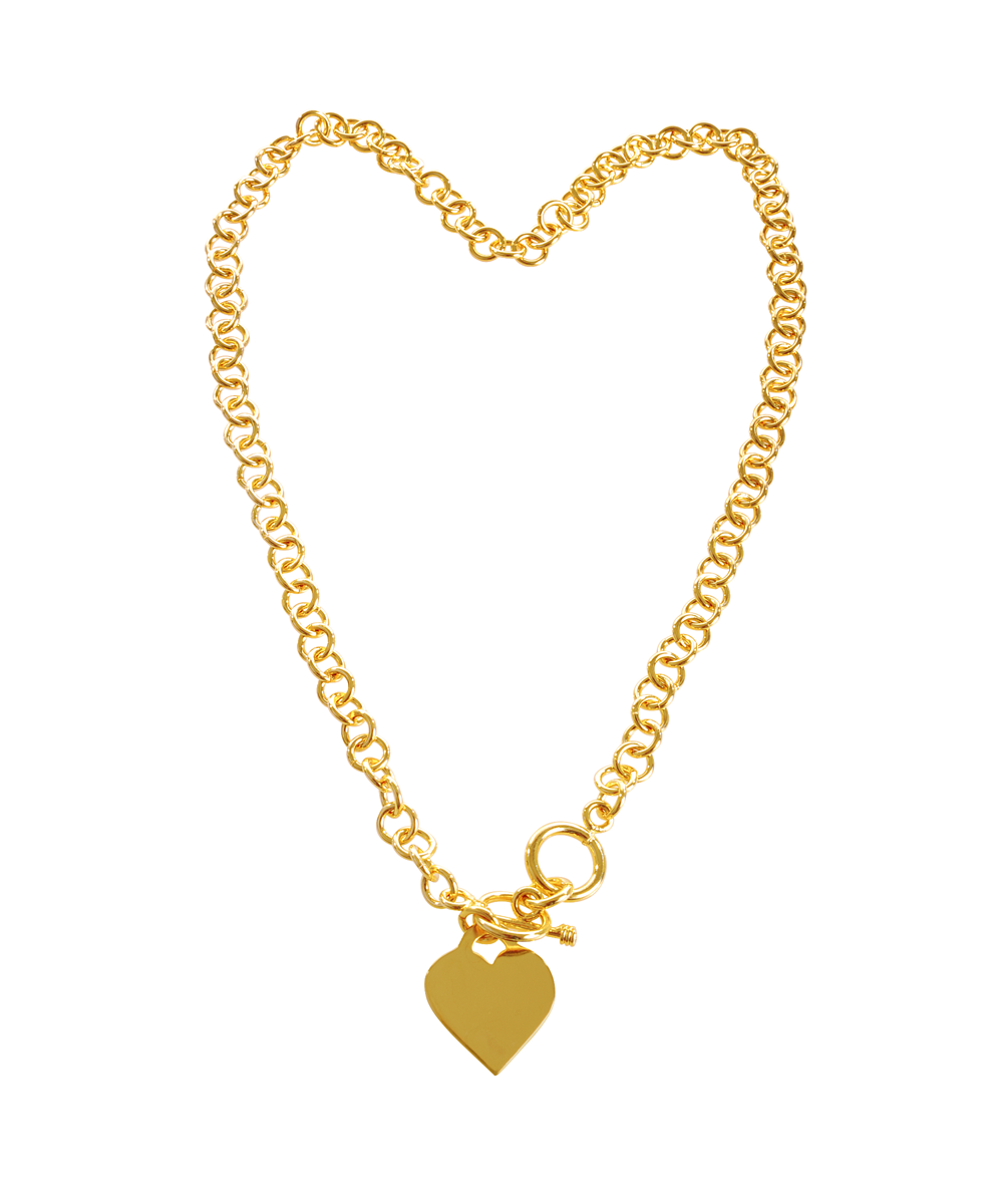 Peermont Gold Heart Charm Necklace | Hermosaz