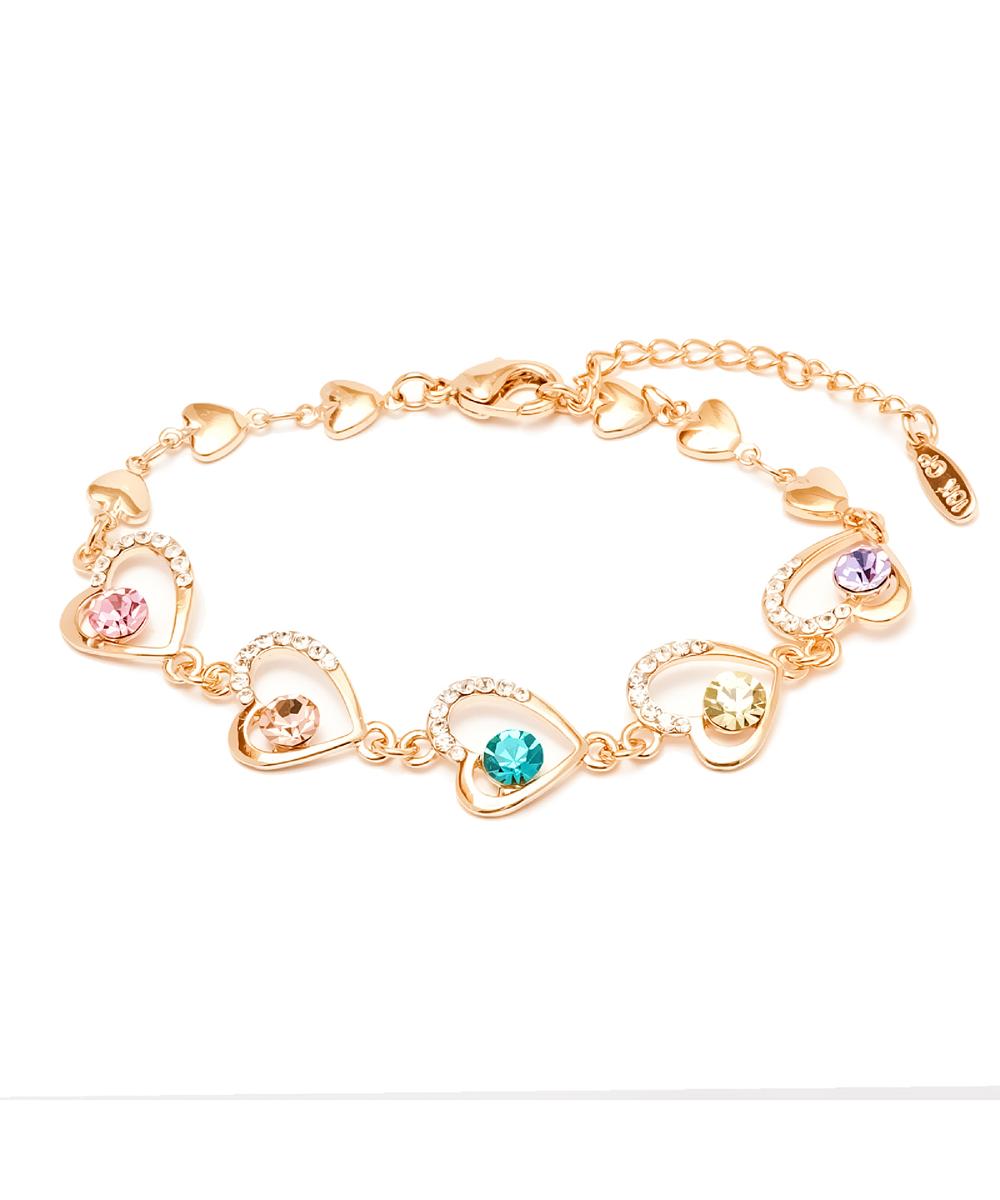 Peermont Gold And Swarovski Elements Heart Link Bracelet | Hermosaz
