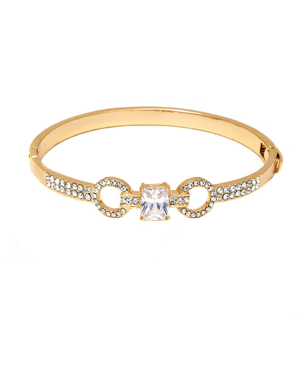 Peermont Gold And Swarovski Elements Double Ring Bangle | Hermosaz