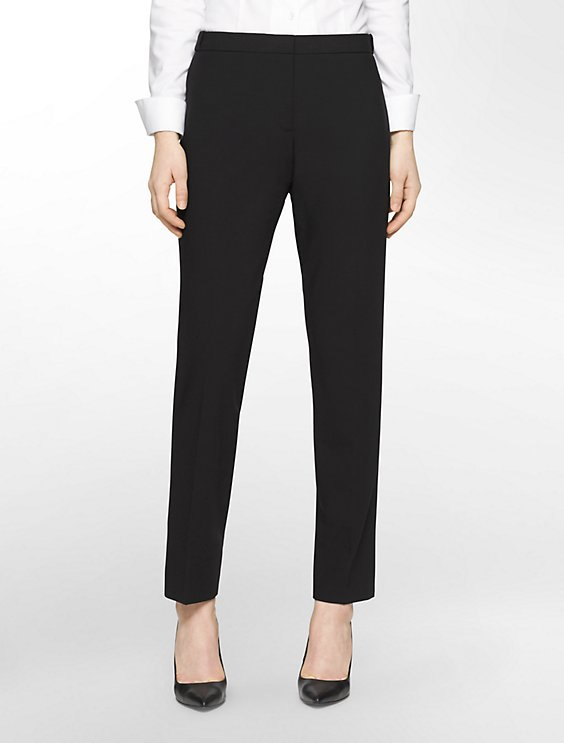 Calvin Klein STRAIGHT FIT HIGHLINE BLACK PANTS | Hermosaz
