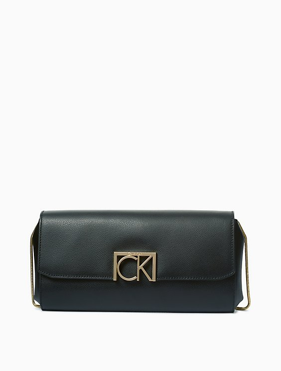 Calvin Klein SAFFIANO LEATHER LOGO CLUTCH | Hermosaz