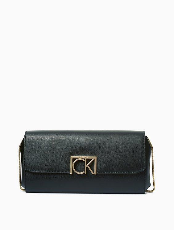Calvin Klein SAFFIANO LEATHER LOGO CLUTCH | Hermosaz