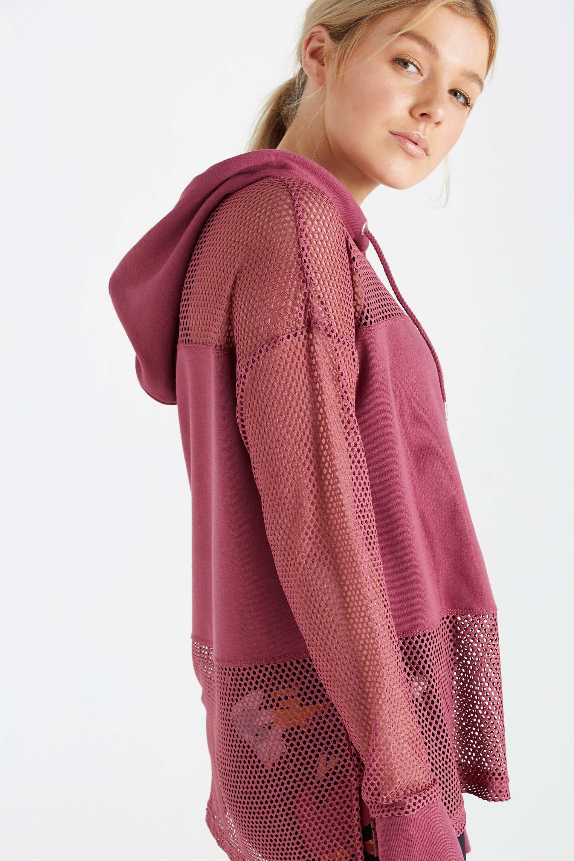 Spliced Fleece Long Sleeve Top | Hermosaz