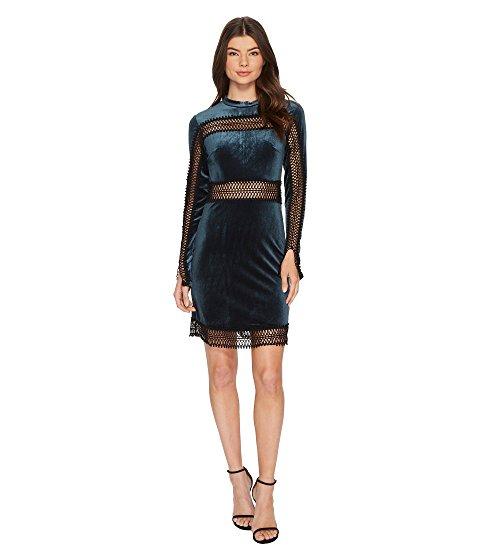 ROMEO & JULIET COUTURE Velvet w/ Sheer Lace Trim Dress | Hermosaz