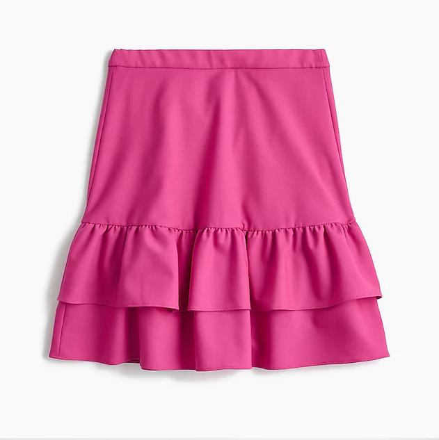 J. Crew Wool flannel ruffle skirt | Hermosaz