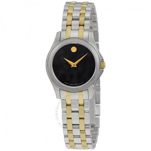 Movado Collection Black Dial Ladies Watch | Hermosaz