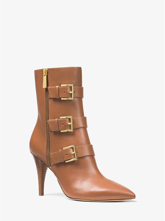 Michael Michael Kors Lori Leather Mid-Calf Boot | Hermosaz