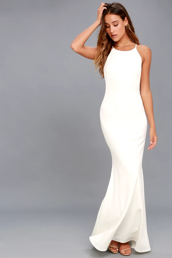 ROMANTICISM WHITE MAXI DRESS | Hermosaz