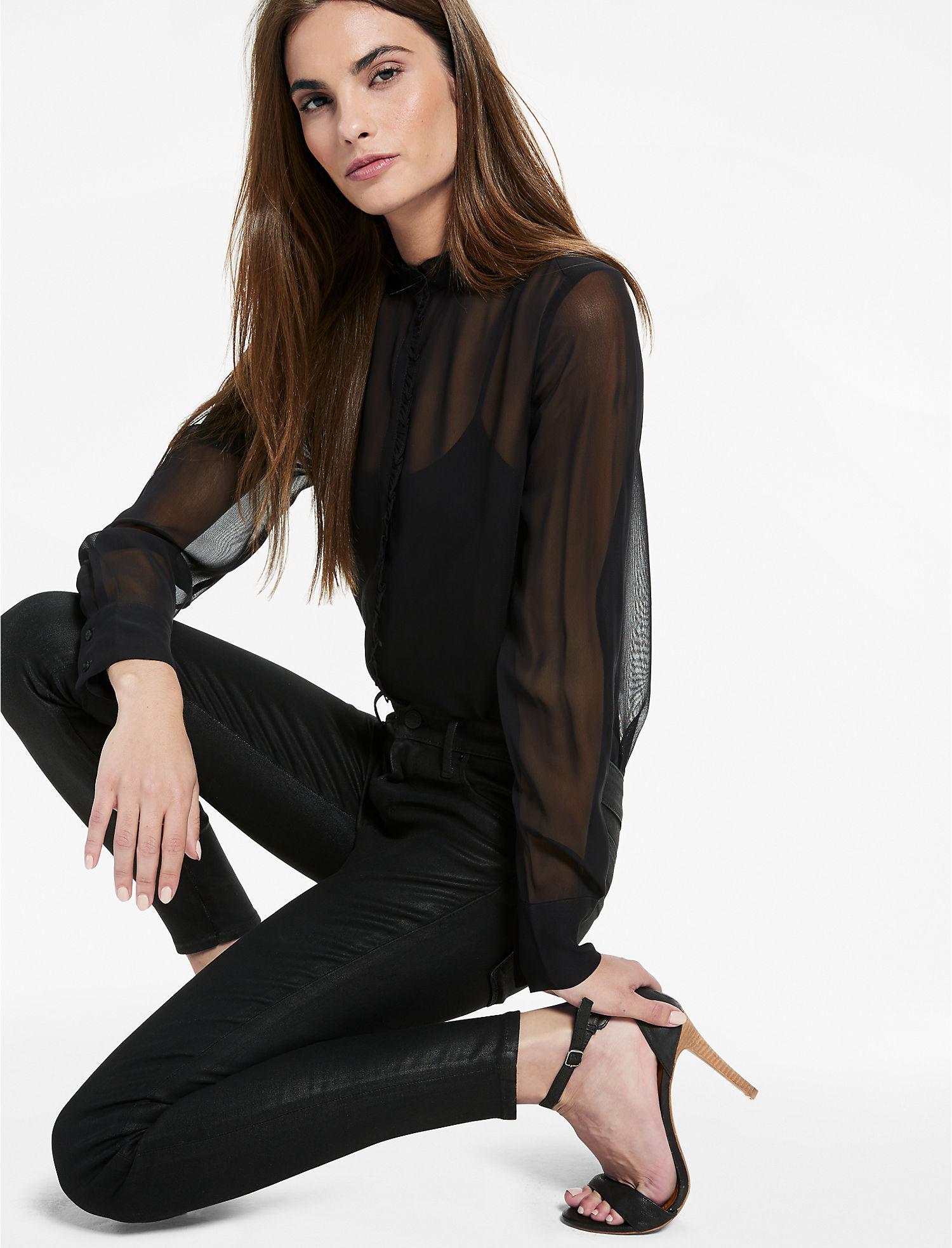 Lucky Brand Ava Mid Rise Coated Legging Jean | Hermosaz