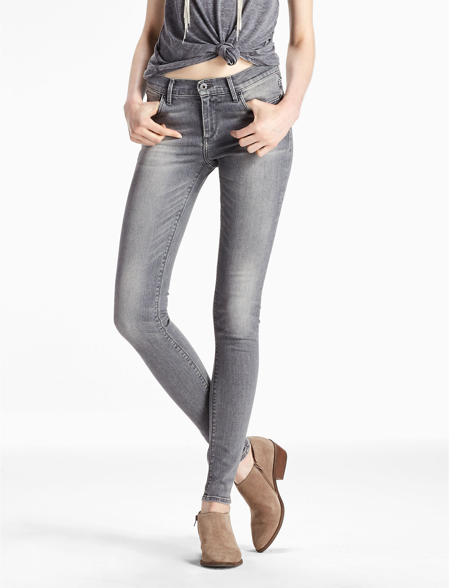 Lucky Brand Brooke Mid Rise Legging Jean In Carmine | Hermosaz