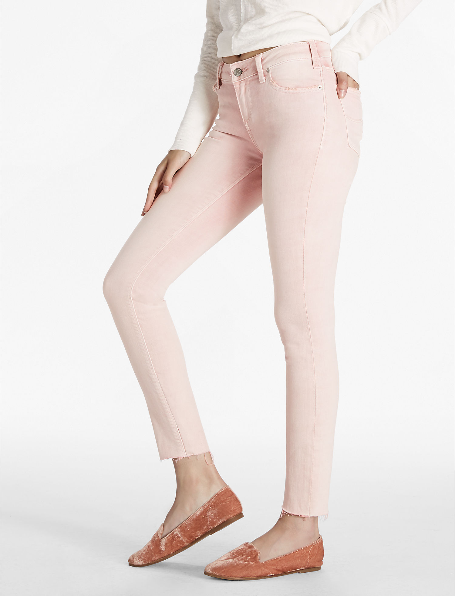 Lucky Brand Lolita Mid Rise Skinny Jean In Pleasanton Fray | Hermosaz