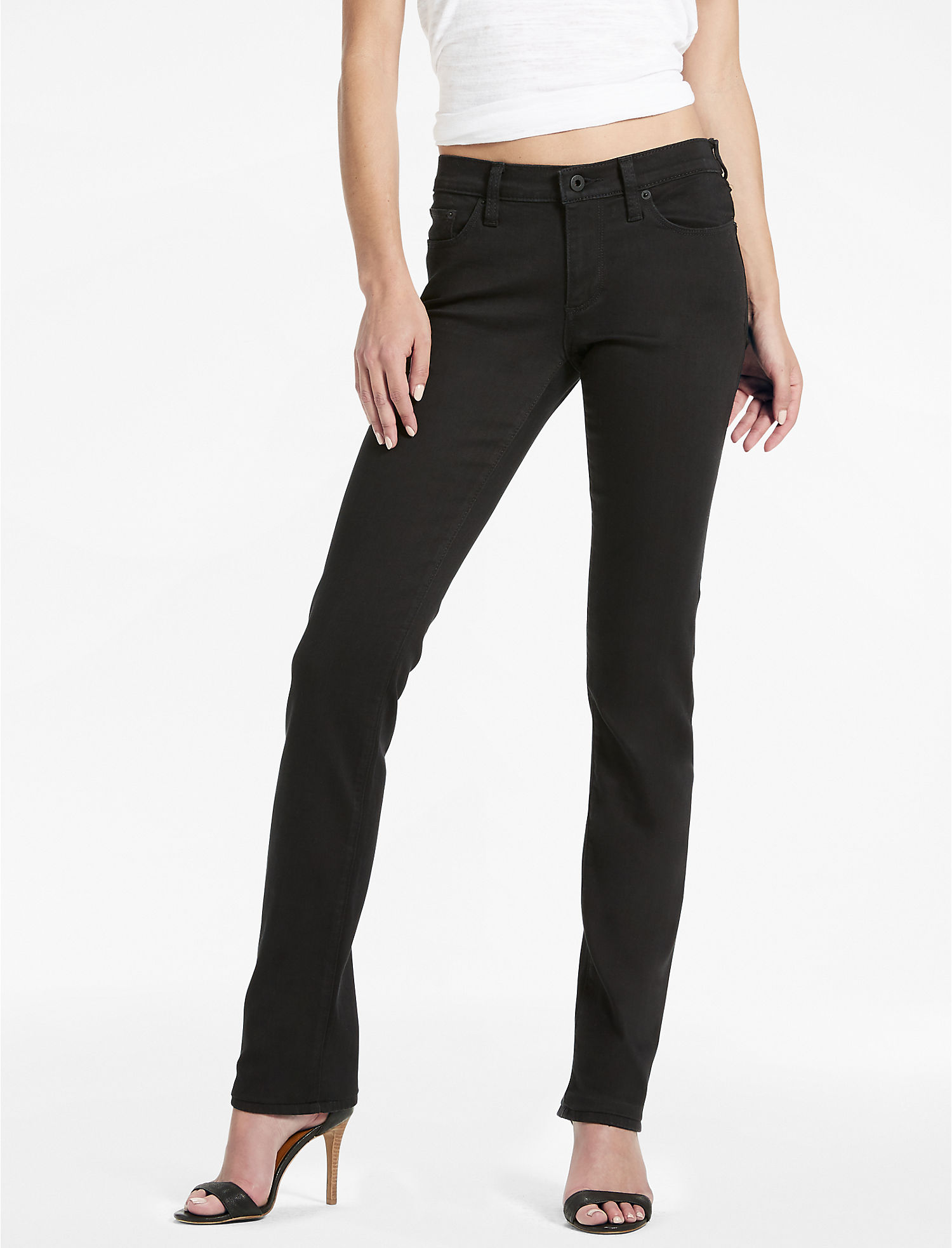 Lucky Brand Sweet Mid Rise Straight Leg Jean In Black Amber | Hermosaz