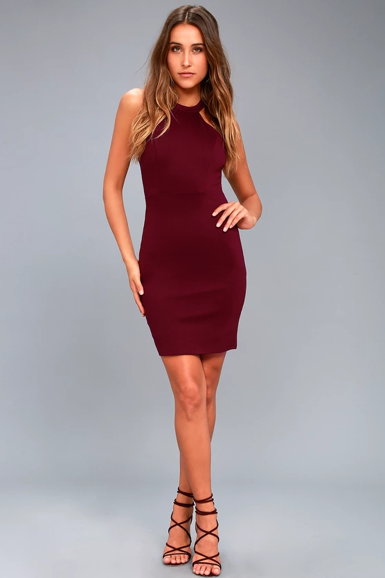ENDLESSLY ALLURING PLUM PURPLE LACE BODYCON DRESS | Hermosaz
