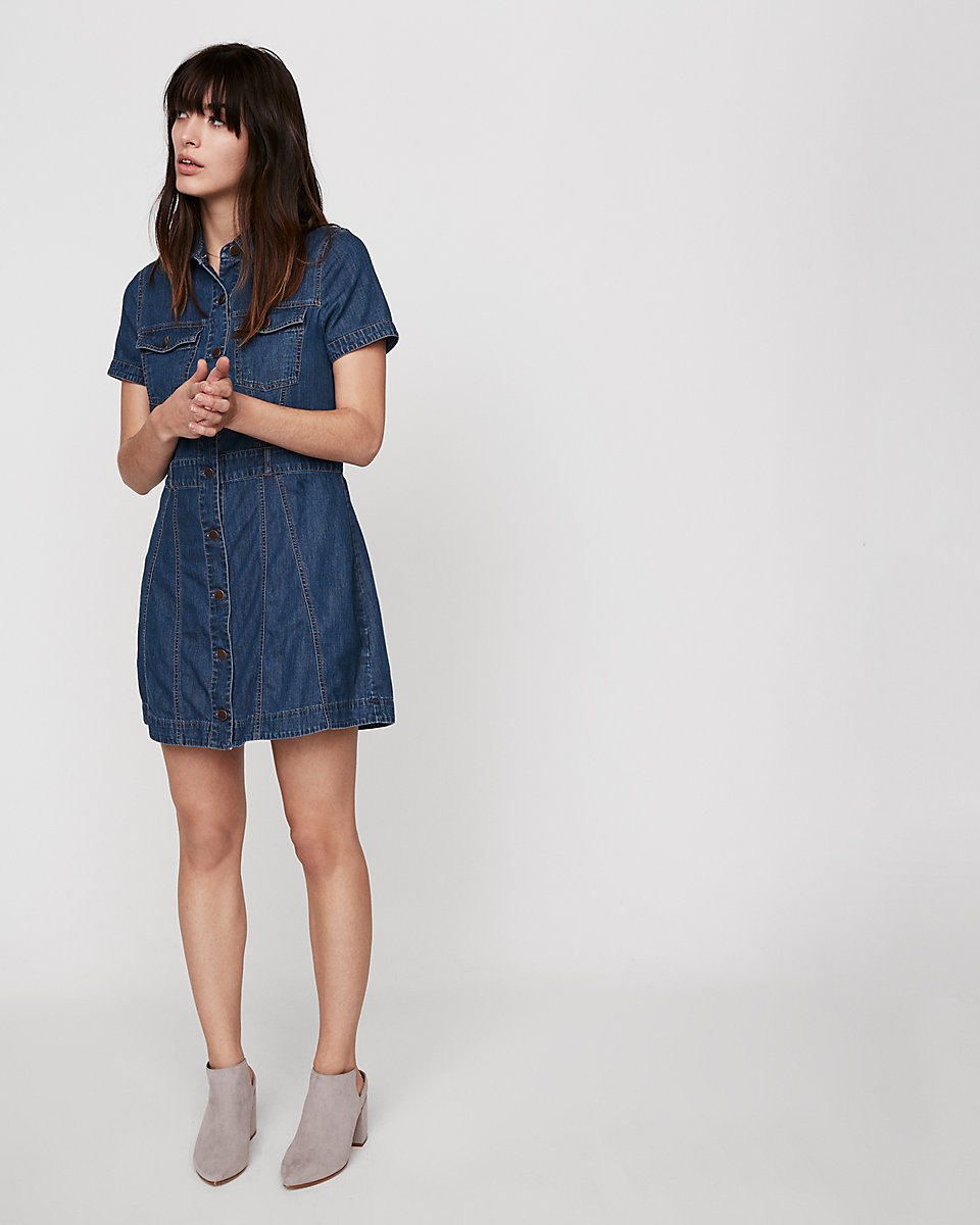 Denim Sheath Dress | Hermosaz
