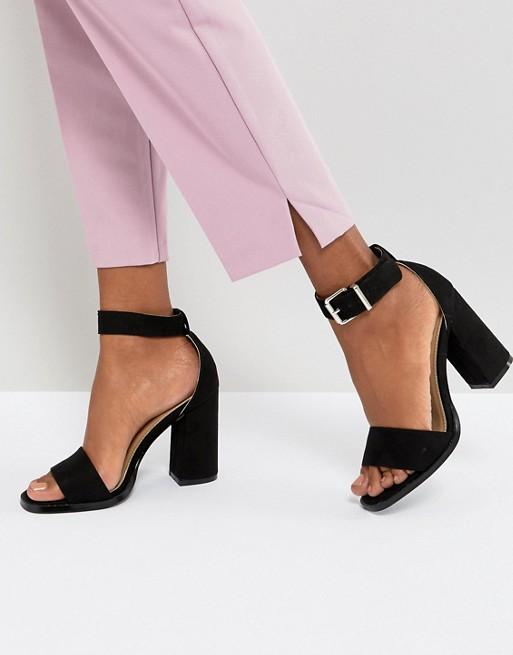 RAID Imani Black Block Heeled Sandals | Hermosaz