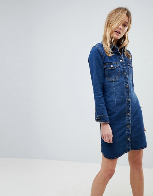 JDY Denim Shirt Dress | Hermosaz