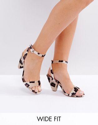 ASOS WAITRESS Wide Fit Heeled Sandals | Hermosaz