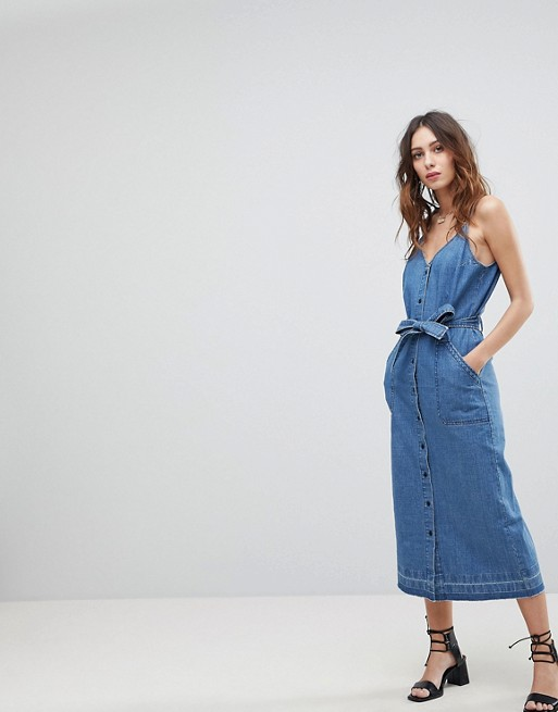Current Air Midi Denim Dress | Hermosaz