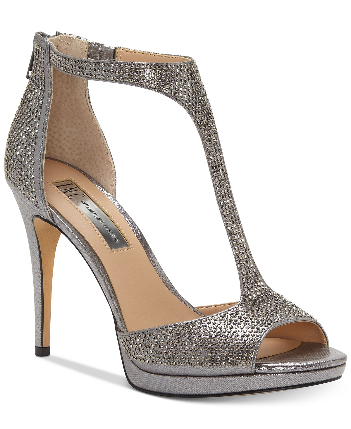 I.N.C. Sherene T-Strap Evening Sandals, Created For Macy's | Hermosaz