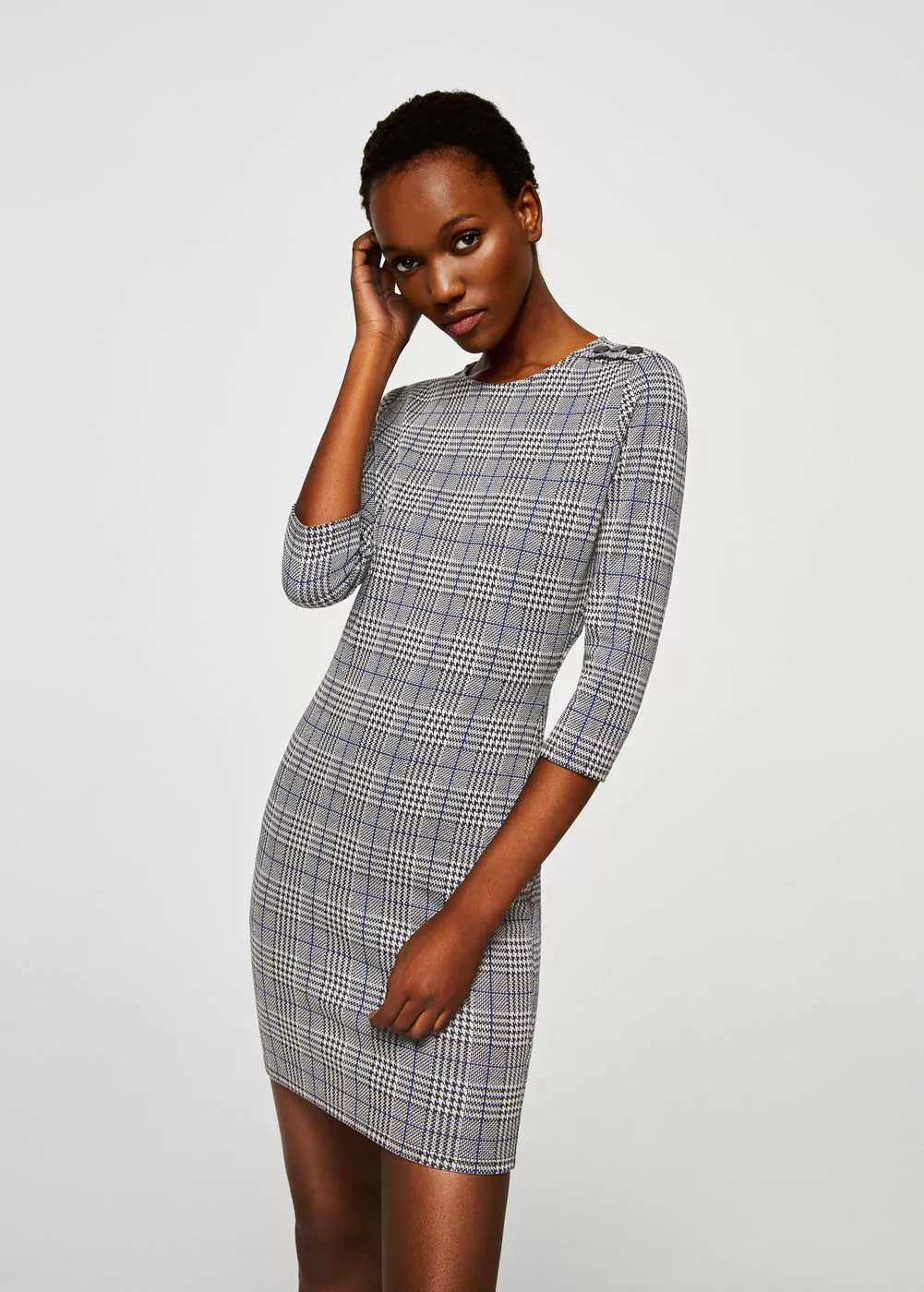 Fitted textured dress | Hermosaz