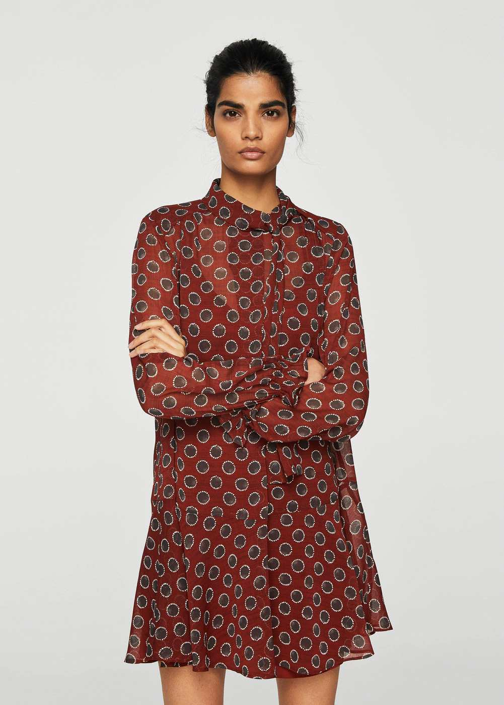 Printed bow dress | Hermosaz