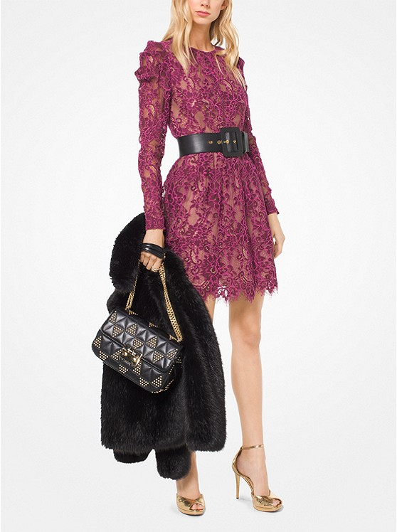 Scalloped Corded Floral Lace Dress | Hermosaz