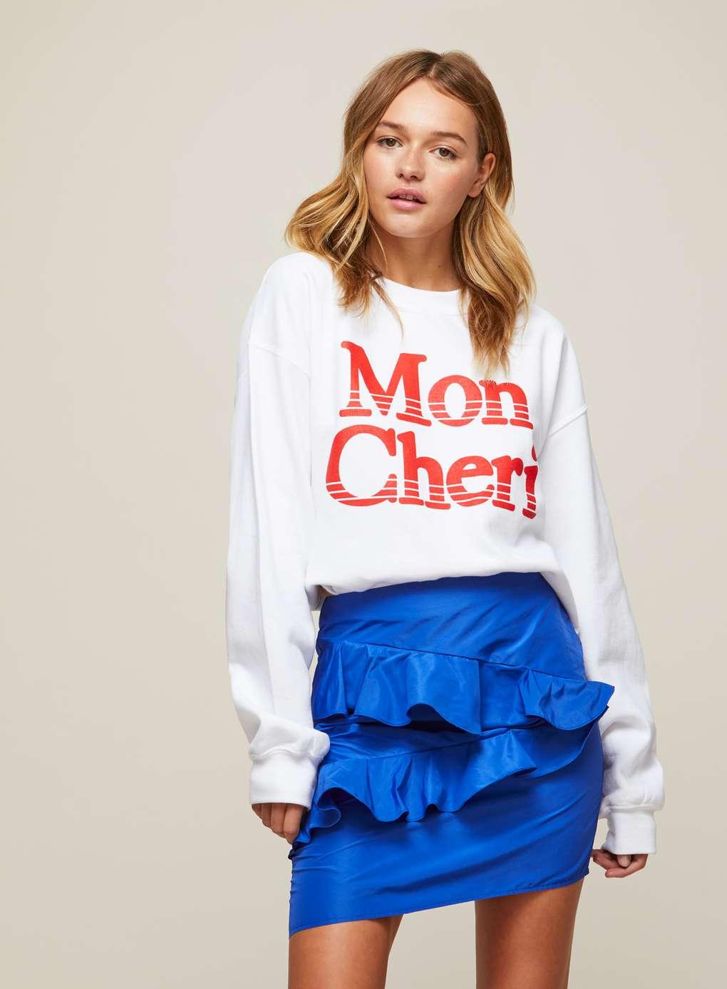 Blue Ruffle Mini Skirt | Hermosaz
