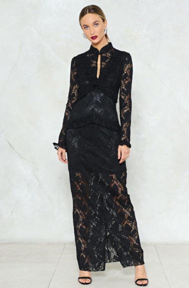 Down to Earth Lace Maxi Dress | Hermosaz
