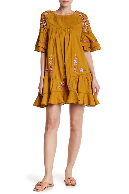 Pavlo Floral Embroidery Dress | Hermosaz