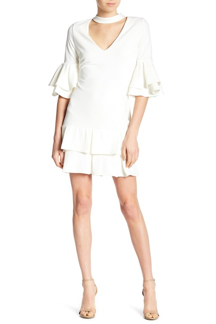 Alexia Admor Mock Neck Ruffle Sleeve Dress | Hermosaz