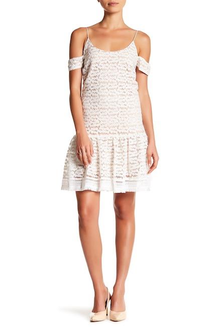 Nicole Miller Floral Print Cold Shoulder Dress | Hermosaz