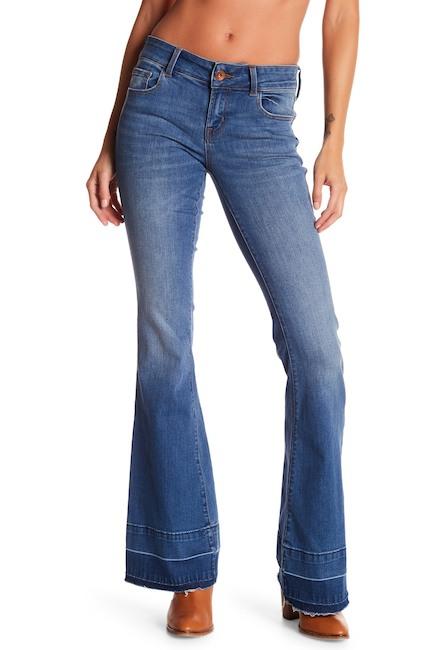 J Brand Love Story Low Rise Raw Hem Flare Jeans | Hermosaz