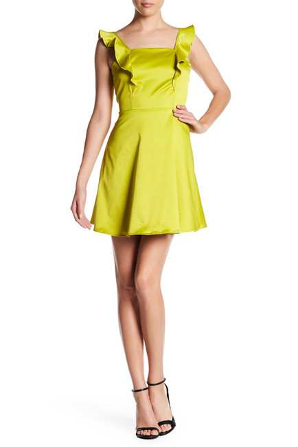 Vanity Room Satin Ruffle Party Dress | Hermosaz
