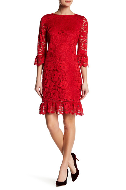 Donna Ricco Bell Sleeve Lace Dress | Hermosaz