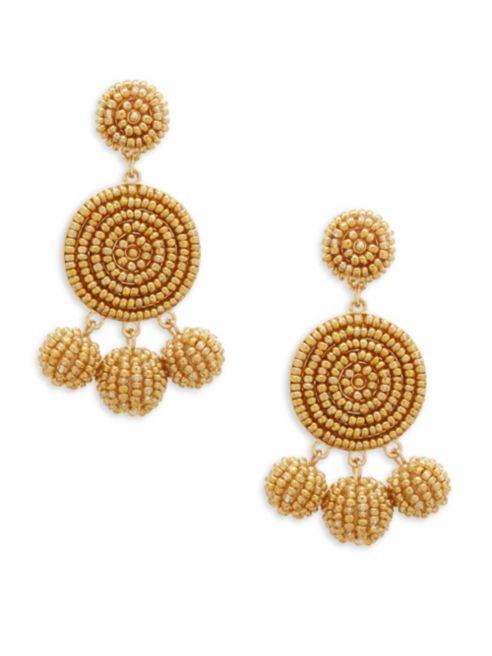 Saks Fifth Avenue Beaded Chandelier Earrings | Hermosaz