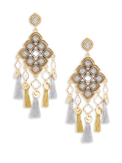 Saks Fifth Avenue Cubic Zirconia Statement Earrings | Hermosaz